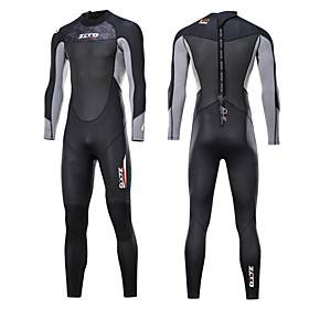ZCCO Men's Full Wetsuit 3mm Nylon SCR Neoprene Diving Suit Thermal Warm Quick Dry Anatomic Design Long Sleeve Back Zip - Swimming Diving Water Sports Spring