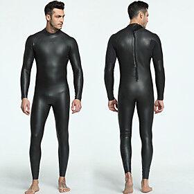 MYLEDI Men's Full Wetsuit 3mm CR Neoprene Diving Suit Quick Dry Anatomic Design Long Sleeve Back Zip / Stretchy