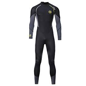 ZCCO Men's Full Wetsuit 1.5mm SCR Neoprene Diving Suit Thermal / Warm High Elasticity Back Zip - Diving Water Sports Camo / Camouflage Fashion Autumn / Fall Sp
