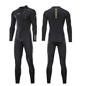 ZCCO Men's Full Wetsuit 3mm SCR Neoprene Diving Suit High Elasticity Long Sleeve Front Zip Patchwork Fashion Autumn / Fall Spring Summer