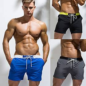 Men's Swim Shorts Bottoms Breathable Quick Dry Swimming Surfing Water Sports Solid Colored Summer