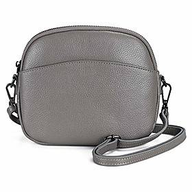 befen women's crossbody bag, smart phone leather shoulder bag, small purse convertible crossbody bag (gray)