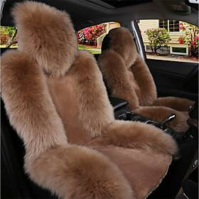 Black / Brown / Wine Wool Warm and Breathable Car Seat Covers Seat Covers Common For Universal Made