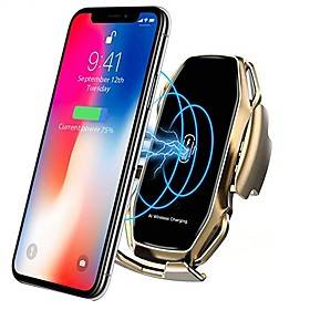 Smart Sensor Car Phone Holder Fast Charging Wireless Chargers Universal Car Holder Compatible iPhone 11/11 Pro/11 Pro Max/Xs MAX/XS/XR/X/8/8 Samsung S10/S10/S9