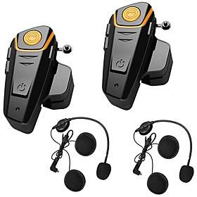 BT 1PCS/2PCS BT-S2 Intercom Features Automatic Answering Function Enjoy The Music Bluetooth Helmet Hands Free All Weather Water Resistant