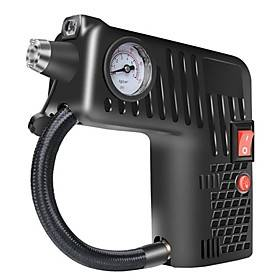 Oukoo 12V Portable Air Tire Inflator Pump LED Safety Hammer Compressor For Motorcycle Electric Auto Car Bike