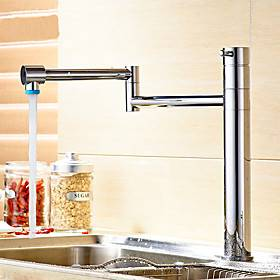 Kitchen faucet-single handle single hole multi-layer cover plug folding contemporary kitchen faucet