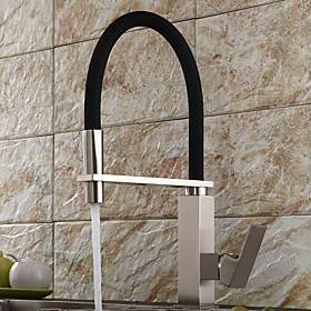 Kitchen faucet - Single Handle One Hole Electroplated Pull-out / Pull-down / Tall / High Arc Centerset Contemporary Kitchen Taps