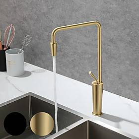 Kitchen faucet - Single Handle One Hole Painted Finishes Tall /High Arc Mount Outside Contemporary Kitchen Taps