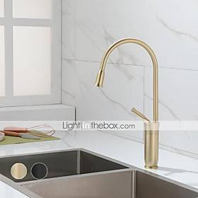 Kitchen faucet - Single Handle One Hole Painted Finishes Tall / ­High Arc Mount Outside Contemporary Kitchen Taps