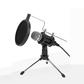 Wired Microphone Condenser Microphone Pop Filter X-01 3.5mm Jack for Studio Recording  Broadcasting Notebooks and Laptops PC Mobile Phone