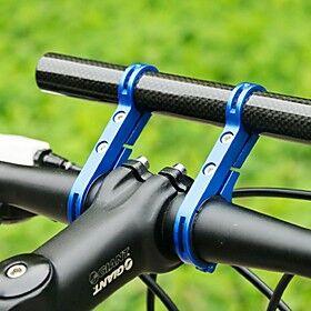 Bike Handlebar Extender Flashlight Mount Holder Carbon Fiber Lightweight Extended Tool Holder for Road Bike Mountain Bike MTB TT Engineering Plastics Carbon Fi