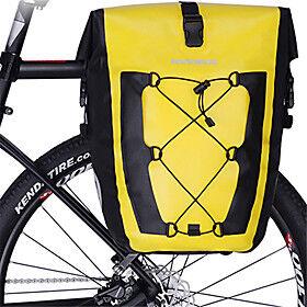 ROCKBROS 27 L Luggage Bike Rack Bag Bike Pannier Bag Reflective Large Capacity Waterproof Bike Bag TPU Waterproof Fabric 840D  Nylon Bicycle Bag Cycle Bag Spor