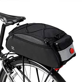 ROSWHEEL 10 L Bike Saddle Bag Bike Panniers Bag Bike Rack Bag Multifunctional Large Capacity Waterproof Bike Bag 600D Nylon Bicycle Bag Cycle Bag MTB / Road Bi