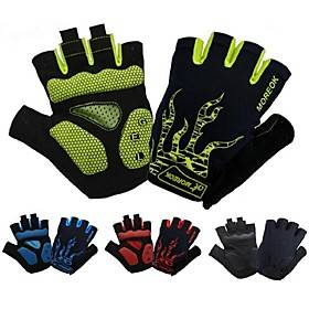 Bike Gloves / Cycling Gloves Breathable Anti-Shake / Damping Skidproof Wicking Fingerless Gloves Sports Gloves Black Green Red for Adults' Road Cycling Outdoor