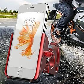 Bike Phone Mount Adjustable Anti-Slip Universal for Road Bike Mountain Bike MTB Motorcycle Aluminum Alloy CNC T6063 iPhone X iPhone XS iPhone XR Cycling Bicycl