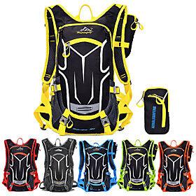 18 L Cycling Backpack Multifunctional Adjustable Waterproof Bike Bag Oxford Fabric Nylon Waterproof Material Bicycle Bag Cycle Bag Camping / Hiking Cycling / B