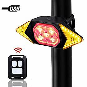 bike tail light with turn signals wireless remote control red rear light usb rechargeable cycling back light fit mountain road commuting bicycle amp; #40;bike