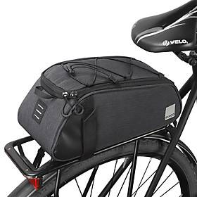 7 L Bike Rack Bag Portable Dust Proof Wearable Bike Bag Leather 300D Polyester Bicycle Bag Cycle Bag Outdoor Exercise