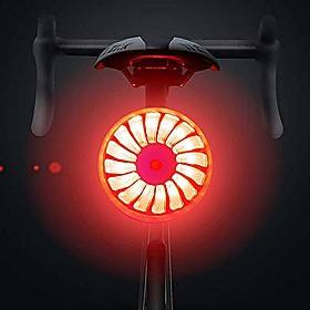 bike rear light, smart brake bike tail light usb rechargeable, 5 light modes red high intensity bicycle taillight waterproof helmet backpack led lamp safety wa