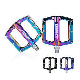 Bike Pedals Anti-Slip High Strength Durable Aluminium 7075 for Cycling Bicycle Mountain Bike MTB Rainbow