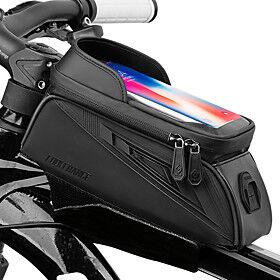 CoolChange Waterproof Cell Phone Bag Bike Frame Bag Top Tube Touch Screen Rain Waterproof Cycling Bike Bag TPU Oxford Cloth EVA Bicycle Bag Cycle Bag Null