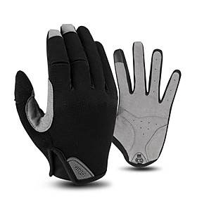Winter Bike Gloves / Cycling Gloves Touch Gloves Windproof Breathable Warm Wearable Full Finger Gloves Sports Gloves Lycra Black Red Blue for Adults' Cycling /