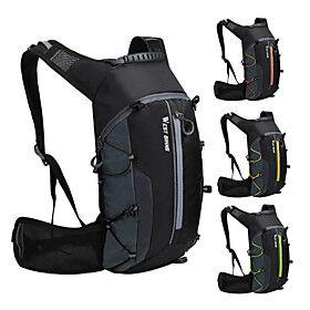 WEST BIKING 10 L Cycling Backpack Sports  Leisure Bag Waterproof Portable Wearable Bike Bag Nylon Bicycle Bag Cycle Bag Cycling Hiking Outdoor Exercise / Refl