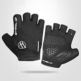 Bike Gloves / Cycling Gloves Touch Gloves Anti-Slip Wearable Motor Bike Winter Sports Fingerless Gloves Sports Gloves Black / Red Black for Adults' Road Cyclin