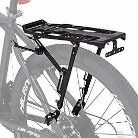 hiland bike rear cargo rack aluminum luggage pannier carrier adjustable for 20-29 inch mountain road hybrid commuter city disc-brake electric bikes
