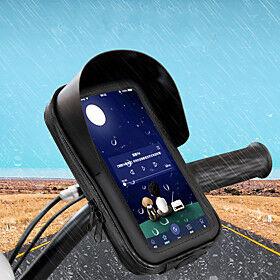 Bike Phone Mount Anti-Shake / Damping Easy to Install for Road Bike Mountain Bike MTB Silica Gel ABS Cycling Bicycle Black