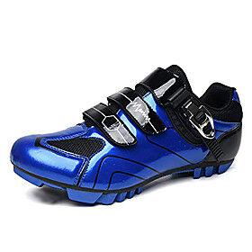 gogodoing men's mtb cycling shoes outdoor sport bicycle shoes self-locking professional racing road bike shoes mountain bike shoe blue