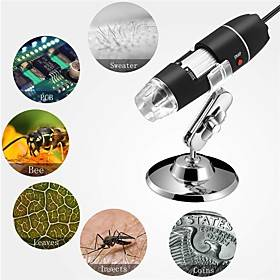 1000X Pixel Glasses Wifi USB Digital Microscope 8LEDs Electronic Microscope Endoscope Camera Magnifier Lift Stand for Phone Pad