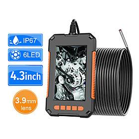 3.9mm Industrial Endoscope Camera 1080P HD 4.3 IPS Screen Pipe Drain Sewer Duct Inspection Camera IP67 Snake Camera 2M