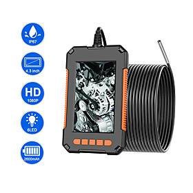 Industrial Endoscope Camera 1080P HD 4.3IPS Screen Support 64G TF Card Recording Pipe Drain Sewer Duct Inspection Camera IP67 Snake Camera WIth 6 LED