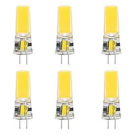 6pcs 10 W LED Silica Gel Corn Lights LED Bi-pin Lights  G4 2508COB High Power LED Creative Party Decorative Crystal Chandelier Light source Energy-saving Light