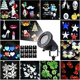12pcs Lawn Lights Garden Light Outdoor Lighting Waterproof / Creative / Projector Light Halloween Christmas Multi Color 100-240 V 12 LED Beads