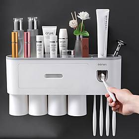 Toothbrush rack storage box Toilet hole-free wall-mounted mouthwash cups