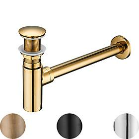 Faucet Accessory Superior Quality - Contemporary Copper Pop-up Water Drain Without Overflow Chrome