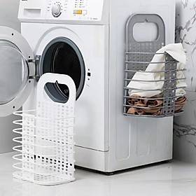 2PCS No-punching Thick PP Material Simple Modeling Can Do Dirty Clothes Storage With Storage Daily Finishing Storage