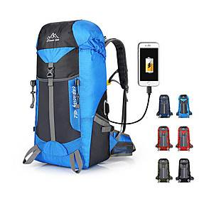 nylon waterproof 55l outdoor climbing hiking sport backpack