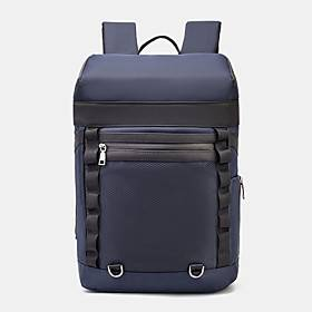 men nylon large capacity outdoor sport waterproof 15.6 inch laptop bag hiking travel backpack
