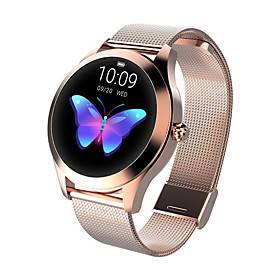 BT KW10 Smart Watch BT Fitness Tracker Support Notify/Heart Rate Monitor Sport Stainless Steel Bluetooth Smartwatch Compatible IOS/Android Phones