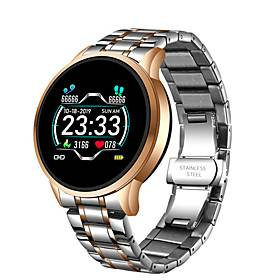 W6 Stainless Steel Smartwatch for Android/ IOS/ Samsung Phones, Sports Tracker Support Heart Rate Monitor