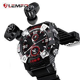 LEMFO LEMD 2020 Sport Smart Watch TWS Bluetooth Earphone 2In1 360360 HD Display 350Mah Battery Multi Language Smartwatch Men