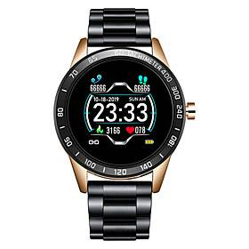 LG0109 Stainless Steel Smartwatch for Android/ IOS/ Samsung Phones, Bluetooth Fitness Tracker Support Heart Rate Monitor