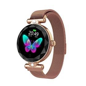 ZGPAX Fashion Women S216 Smart Watch Heart Rate Blood Pressure Waterproof Sleep Monitor 3D Diamond Glass Lady Smartwatch for Android/ iPhone/ Samsung Phones