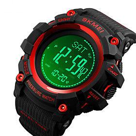 compass watch army, digital outdoor sports watch for men women, pedometer altimeter calories barometer temperature waterproof litbwat