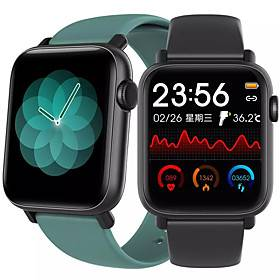 Apple QS19 Smartwatch for Apple/Android/Samsung Phones, Sports Tracker Support Heart Rate/Blood Pressure Measure