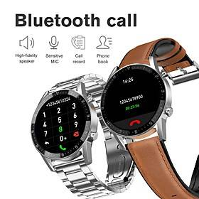 Stainless Long Battery-life Smartwatch Support Bluetooth Call/Heart Rate/Blood Pressure Measure, Sports Tracker for Android/IOS Phones